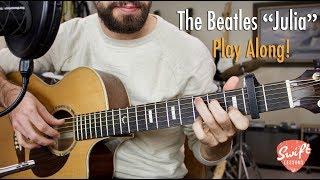 "The Beatles ""Julia"" Guitar Play Along w/ Chord Diagrams"