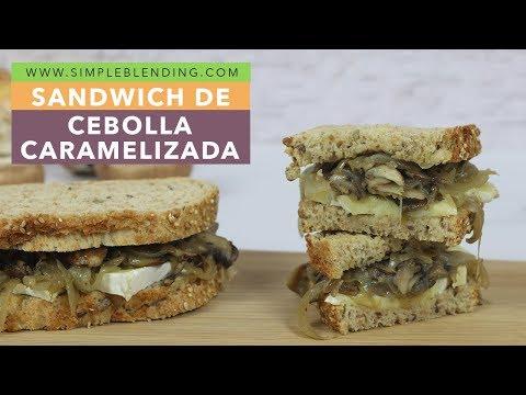 Sandwich de cebolla caramelizada | Bocadillo de cebolla y champiñón | Sandwich saludable