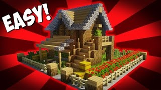 Minecraft How To Build A Small Survival House Tutorial 10 Easy Build Minecraftvideos Tv