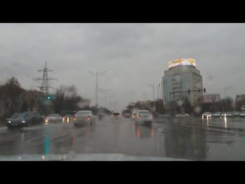Прохладный, дождливый день в Ташкенте переходящий в снег! Ураа!