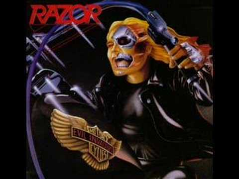 Razor - Cut Throat online metal music video by RAZOR