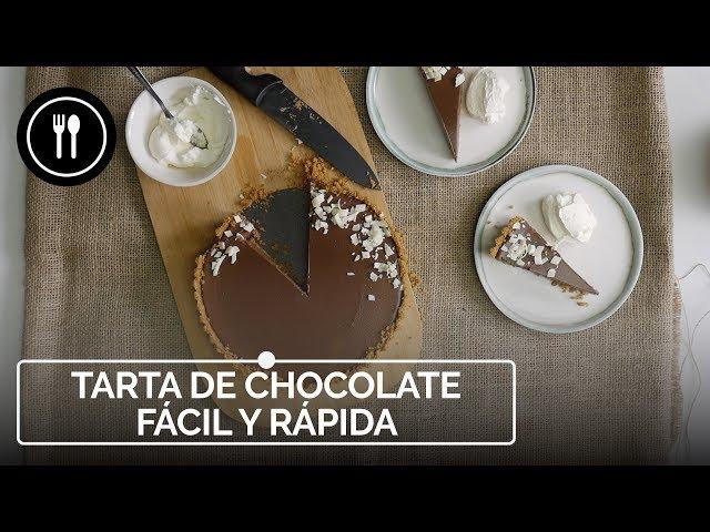TARTA DE CHOCOLATE fácil y rápida lista en 15 minutos | Instafood