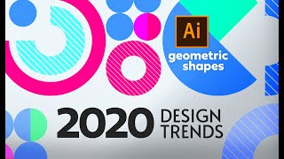 Graphic Design Trends 2020 - Geometric Shapes