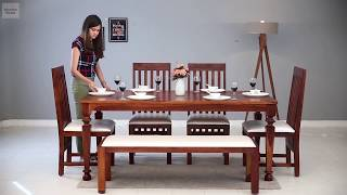 6 Seater Dining Table Set – Buy Best 6 Seater Dining Set Online @ Wooden Street