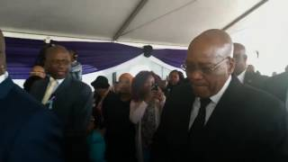 President Jacob Zuma arrives for Ontlametse