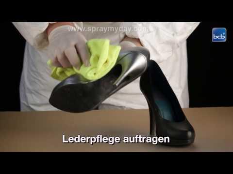 Schuhe umfärben mit Lederspray