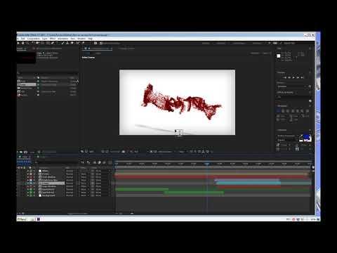 Лого из частиц  как сделать интро из частиц урок в After Effects 💾 Скачать интро готовый проект