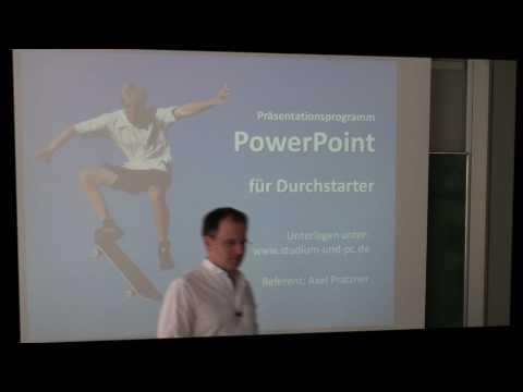 PowerPoint Präsentation erstellen - Aufbau PowerPoint und erste Seite