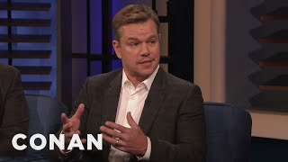 Ben Affleck Came To Matt Damon's Rescue In A Fight - CONAN on TBS