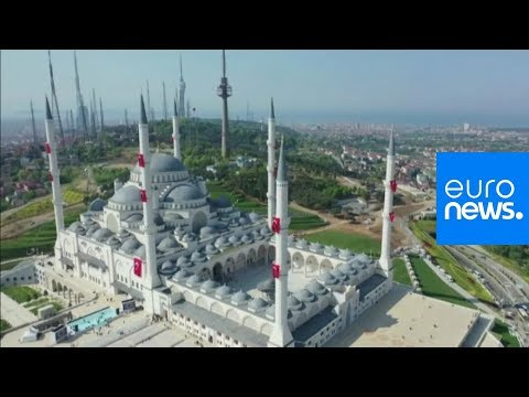 العرب اليوم - شاهد: افتتاح أكبر مسجد في تركيا بحضور أردوغان