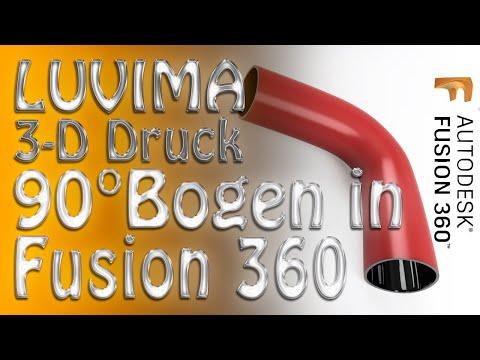 Ein 90 Grad Bogen in Fusion 360 zum ausdrucken mit dem 3D Drucker konstruieren