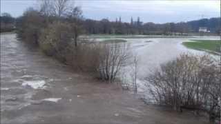 preview picture of video 'Hochwasser Elz bei Waldkirch - Suggental'