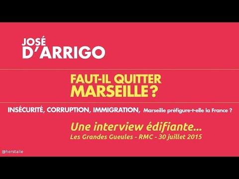 """José d'Arrigo : """"je me sens étranger à Marseille"""""""