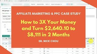 PPC Case Study: How to 3X Your Money & Turn $2,640.10 to $8,111 in 2 Months