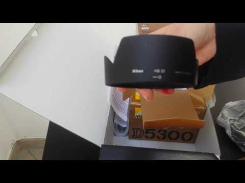 Nikon D5300 Kit 18-105mm unboxing