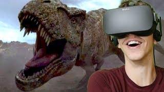 BLUE FIGHTS REXY!!! - Jurassic World: Blue | Oculus VR