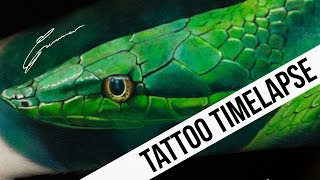 TATTOO TIMELAPSE | 3D SNAKE TATTOO | GUNNAR V