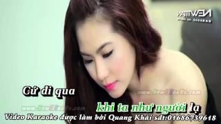 Karaoke Người lạ từng yêu  Lương Bích Hữu ft Tam Hổ beat phối