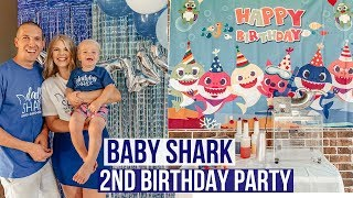 baby shark first birthday party supplies