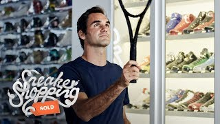Roger Federer Goes Sneaker Shopping With Complex