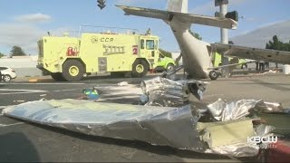Light Plane Crashes Short Of Airport Runway at Concord Intersection