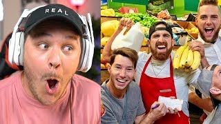Grocery Store Stereotypes by Dude Perfect - Reaction