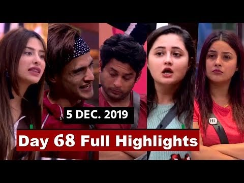 Bigg Boss 13 : Watch Day 68 Full Highlights |Tonight Full Episode 68 | Captaincy Task