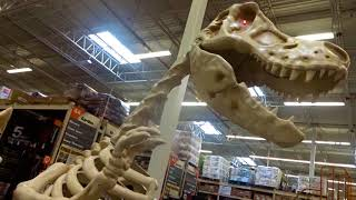 Giant DINOSAUR SKELETON at Home Depot HALLOWEEN 2017!!!