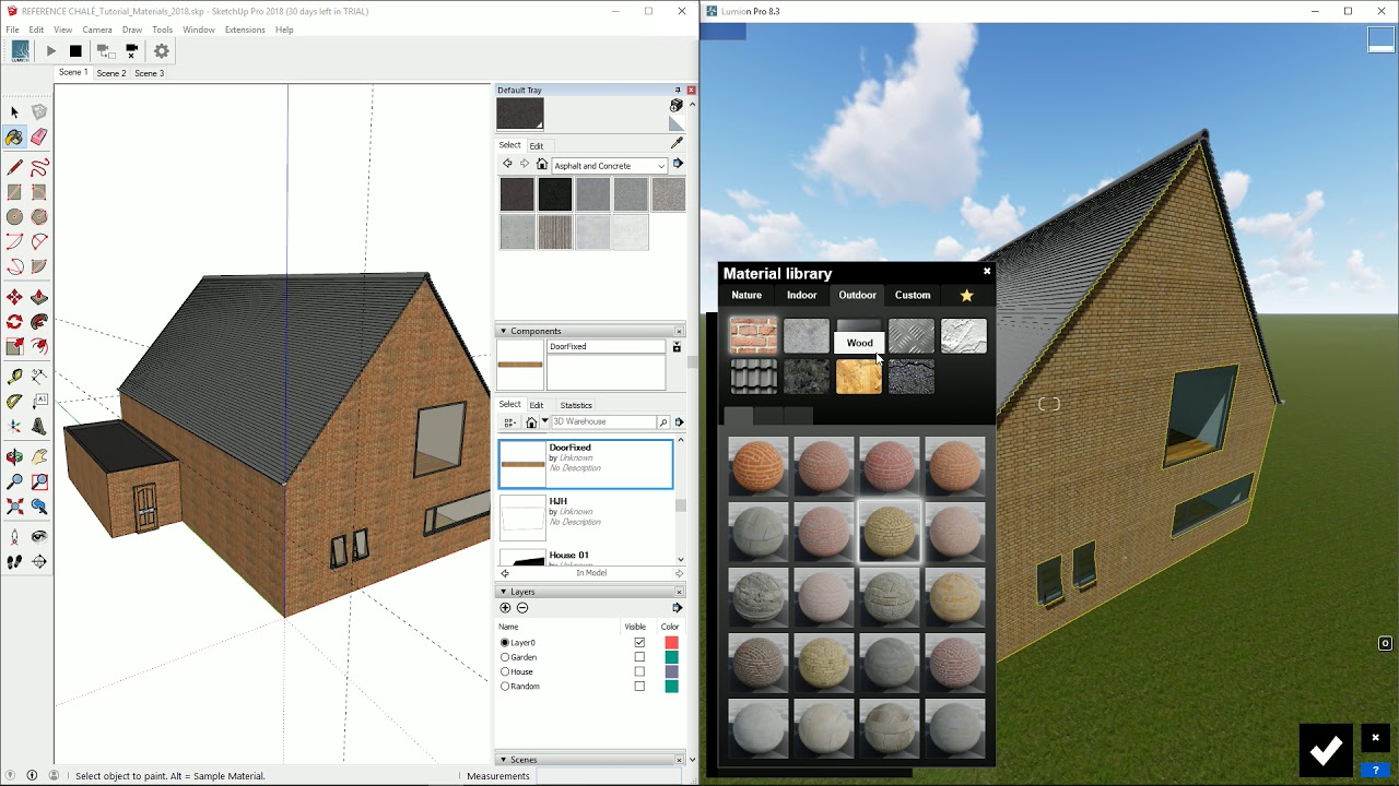 インポート:LiveSync for SketchUp マテリアルの同期(Lumion8 series)