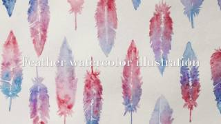 Feather Watercolor Maramgart