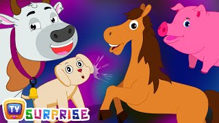 Surprise Eggs Nursery Rhymes Toys | Learn Farm Animals & Animal Sounds With Mr.Harlo | ChuChu TV
