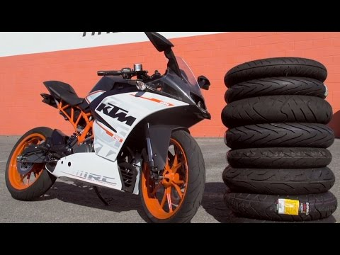 Small Sportbike Tire Comparison With KTM RC390 | MC GARAGE
