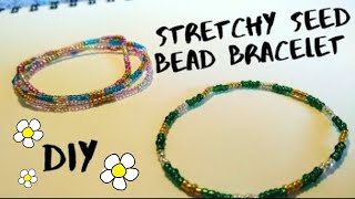 How to Make a Simple Stretchy Seed Bead Bracelet | jewelry tutorial