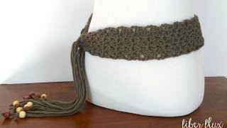 How To Crochet the Modern Taupe Belt, Episode 230