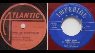 Professor Longhair - Mardi Gras In New Orleans vs Fats Domino - Mardi Gras In New Orleans