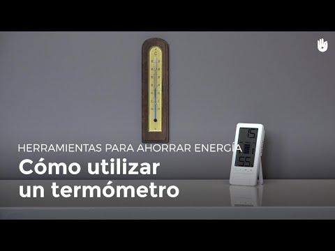 ¿Cómo se usa un termómetro? | Pobreza energética