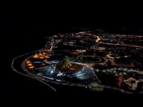 Олимпийский Парк в Сочи - летаем на квадрокоптере! Ночной Сочи || Вид сверху!