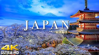 FLYING OVER JAPAN (4K UHD) Amazing Beautiful Nature Scenery with Relaxing Music | 4K VIDEO ULTRA HD
