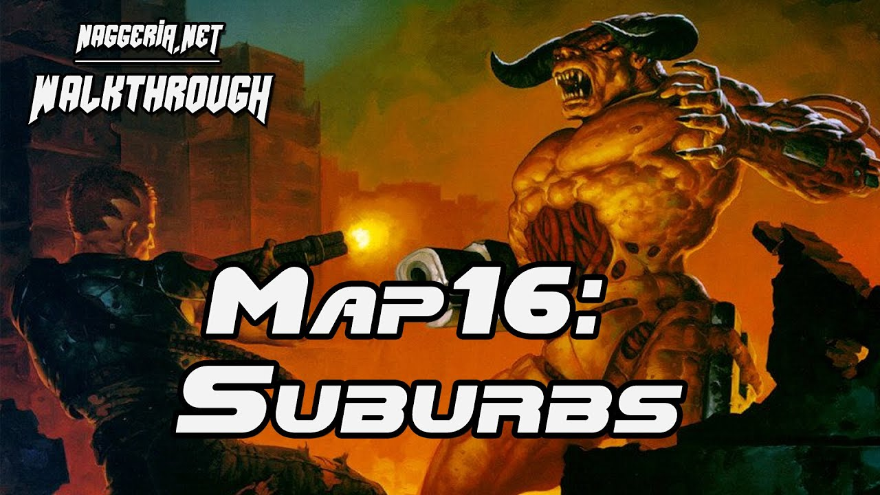 "[Doom 2 Komplettlösung] Map16: ""Suburbs"" Walkthrough (Ultra-Violence)"