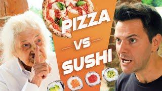 PIZZA VS SUSHI - BATTAGLIA EPICA🍕🍣 - iPantellas