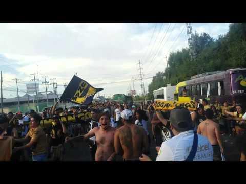 """""""LA REBEL  COPANDO LAS CALLES DE GDL 4/4/16"""" Barra: La Rebel • Club: Pumas"""