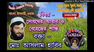 বাংলা ওয়াজ ।। দোযখের আযাব ও বেহেস্তের শান্তি ।। ।। Waj Bangla New ।। Aslam Habib Saheb