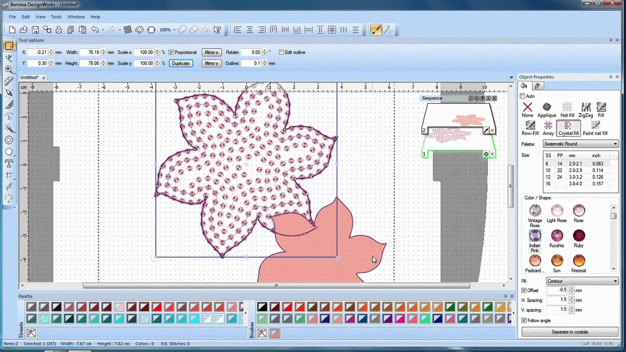 BERNINA CrystalWork: how to create a design with the CrystalWork Software