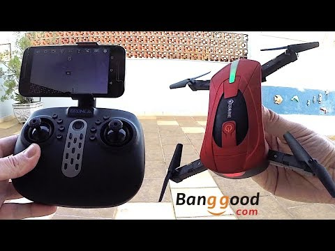 Drone de Bolso Bom e Barato 2017 - Unboxing E52-TX Pocket Drone