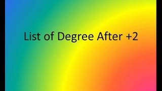List of degrees to study after +2 | Most Popular Degree Programs after 12th