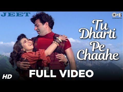 Tu Dharti Pe Chaahe Full Video - Jeet | Sunny Deol, Karisma Kapoor