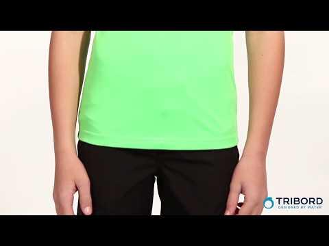 6ef3003fb Camiseta Aquática Verde anti-UV Criança manga curta Tribord - Exclusividade  Decathlon