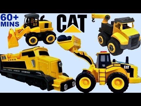 JUGUETES CAMIONES DE CONSTRUCCION CAT MINI MOVERS - CAMION DE VOLTEO CARGADOR EXCAVADORA Y MUCHO MAS