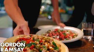 Griddled Chicken with Chickpeas, Feta & Watermelon Salad | Gordon Ramsay