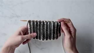 Brioche Stitch: Two-Color Brioche + Fixing Mistakes | Purl Soho